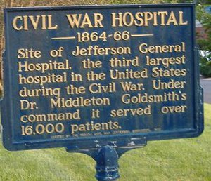 Jefferson General Hospital - Historical marker closeup