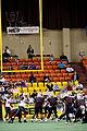 Jeffrey Tongate kicks FG at Bloomington at Alaska 2009-05-04.jpg
