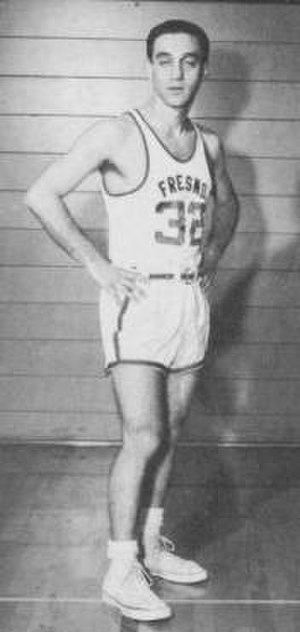 Jerry Tarkanian - Tarkanian in his senior season  (1954–55) playing on the Fresno State men's basketball team.