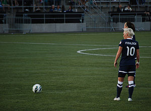 Jess Fishlock - Fishlock during a match against FC Kansas City, 2013