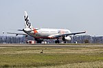 Jetstar (VH-VWY) Airbus A321-231 taking off on runway 25 at Sydney Airport.jpg