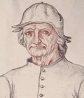 Drawing of a man wearing a hat