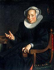 Portrait of Christina van Halen (1568-1629), wife of Joachim Wtewael