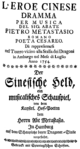 Johann Adolph Hasse - L'eroe cinese - titlepage of the libretto - Hamburg 1754.png
