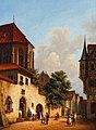 Johann Baptist Laule Straßenansicht mit gotischem Dom 1850.jpg