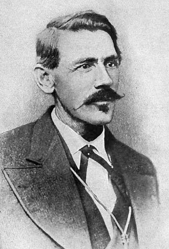 John Chisum - Portrait of John Simpson Chisum from The Story of the Outlaw