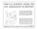John N. A. Griswold House, 76 Bellevue Avenue, Newport, Newport County, RI HABS RI,3-NEWP,36- (sheet 1 of 4).png
