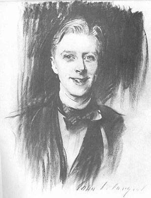 Ernest Thesiger - A charcoal drawing of Ernest Thesiger by John Singer Sargent (circa 1911).