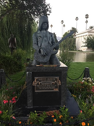 Johnny Ramone - Ramone's monument at Hollywood Forever Cemetery