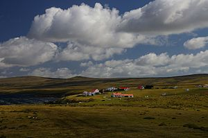 East Falkland - Johnson's Harbour settlement.