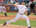 Jon Edwards Rangers pitcher in Arlington Sept 2014.jpg