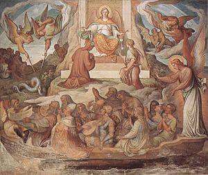 Nazarene movement - Joseph Anton Koch, Detail of the Dante-Cycle in the Casino Massimo