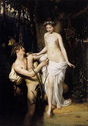 Joseph-Désiré Court - Nymph and Faun bathing, 1824, Musée des Beaux-arts et de la Dentelle d'Alençon.