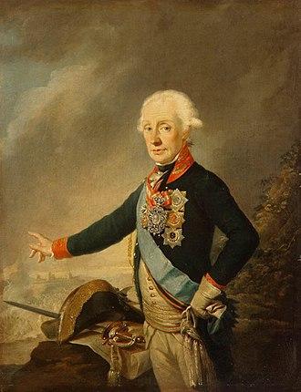 Alexander Suvorov - Image: Joseph Kreutzinger Portrait of Count Alexander Suvorov WGA12281