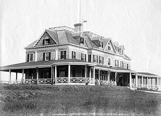 Seawanhaka Corinthian Yacht Club - The club in the 1890s. Photo by John S. Johnston