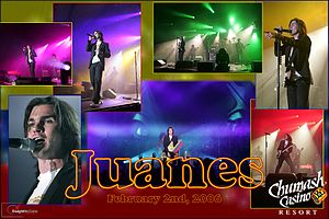 Juanes in concert at the Chumash Casino Resort...