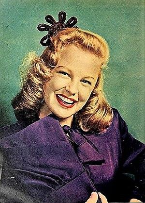 June Allyson - Allyson pictured in March 1945