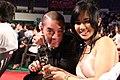 Juno Mak and Sora Aoi with Juno Mak's award at PiFan 20110722.jpg