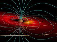Schéma de la magnétosphère de Jupiter.