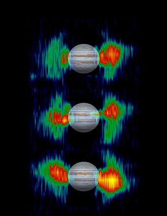 Van Allen radiation belt - Jupiter's variable radiation belts