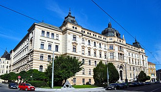 Brno - The Palace of Justice, seat of the regional court