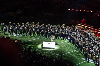 University of Minnesota Marching Band - The Pride of Minnesota performing in the Super Bowl LII halftime show with Justin Timberlake.