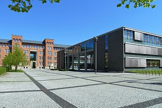 Meiningen - A part of the Justizzentrum (court house)