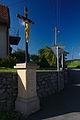 Kříž ve středu obce, Lhota u Lysic, okres Blansko.jpg