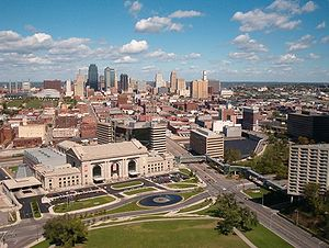 A portion of the downtown Kansas City skyline