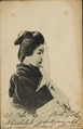 KITLV - 157111 - Woman in kimono in Japan - circa 1900.tiff
