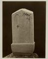 KITLV 28244 - Isidore van Kinsbergen - Stone (back) with inscriptions at the residency in Kediri - 1866-12-1867-01.tif