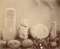 KITLV 87619 - Isidore van Kinsbergen - Sculptures at Tjipakoe at Tjiamis - Before 1900.tif