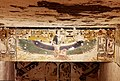 KV17, the tomb of Pharaoh Seti I of the Nineteenth Dynasty, Stairwell C, kneeling figure of Ma'at with outspread wings, flanked by cartouches of Seti I, Valley of the Kings, Egypt (49846344021).jpg