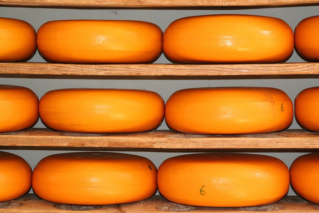Meules de fromages comme vous en verrez au Kaaskamer à Amsterdam.