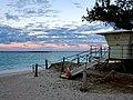 Kailua Beach lifeguard tower at sunset.jpg