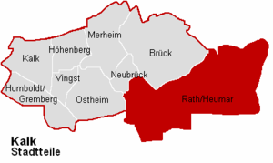 Rath/Heumar - map of Rath/Heumar within Kalk