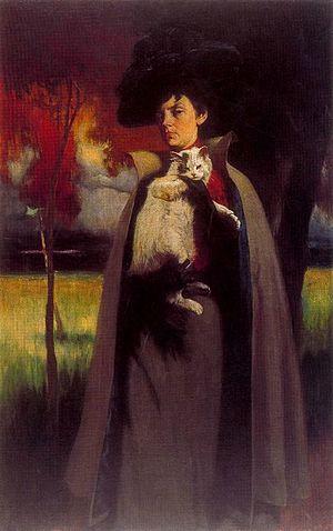 Dmitry Kardovsky - Portrait of Marya Anastasievna Chroustchova, 1900, Solomon R. Guggenheim Museum.