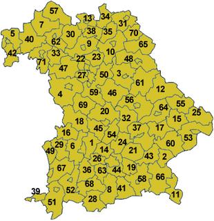 Karte-Bayern-Landkreise