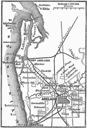 1888 map of adelaide showing the gradual development of its urban layout
