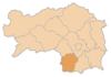 Location of the Deutschlandsberg district within Styria