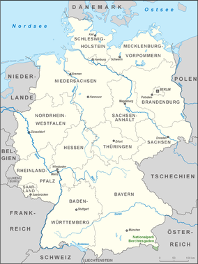Map showing the location of Berchtesgaden National Park