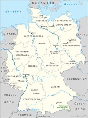 Berchtesgaden National Park - Image: Karte Nationalpark Berchtesgaden