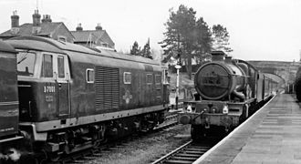 Kemble railway station - Diesel and steam in 1962