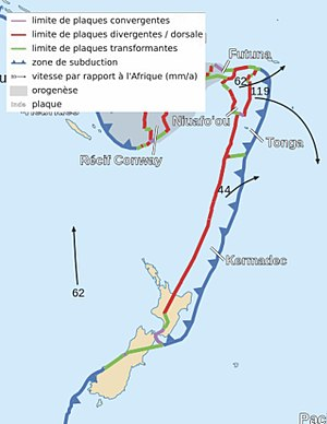 Kermadec-Tonga subduction zone - Kermadec and Tonga Plates