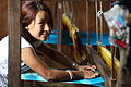 Kesu Magar weaving cloth at a MEDEP supported business, Triyuga Municipality, Bokse, Udayapur, NEPAL. (10706419796).jpg