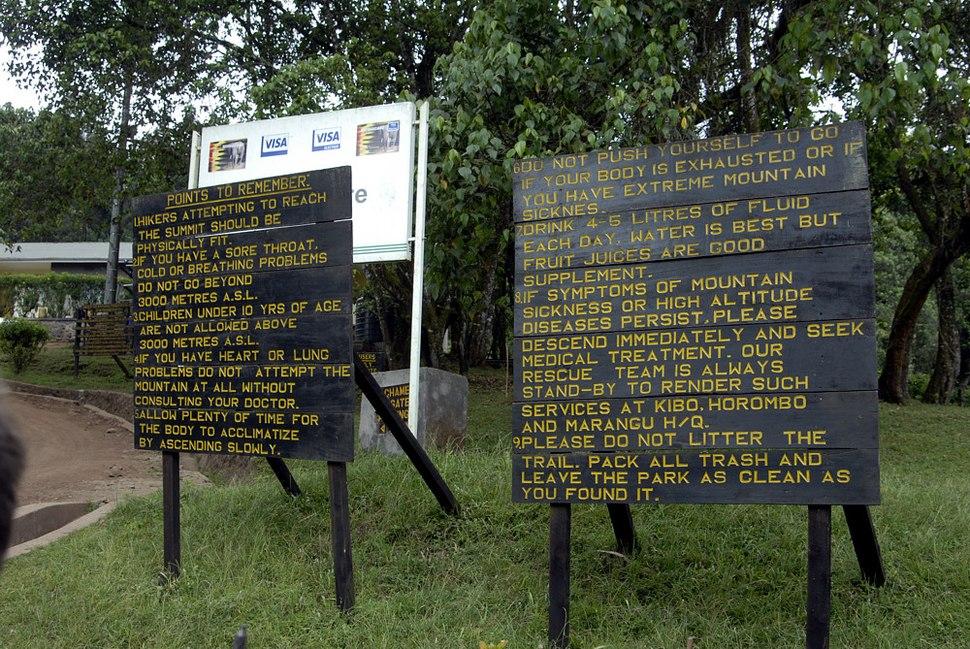 Kili warning signs px1000