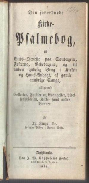 Kingo's hymnal - Kingo's hymnal, 1859 edition