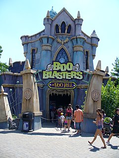 Boo Blasters on Boo Hill Cedar Fair dark ride