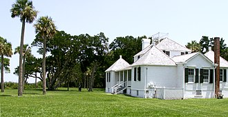 Kingsley Plantation - Rear of the owner's house of the plantation as it faces Fort George Inlet