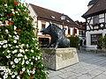 Kirchheimbolanden – der Keiler ist das Wappentier – Bronzeplastik von Martin Mayer - panoramio (1).jpg